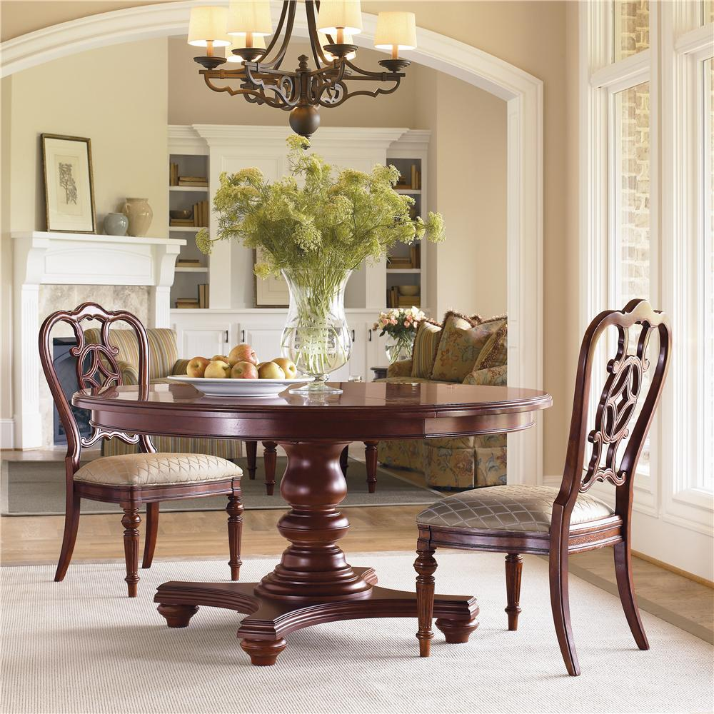 Thomasville Fredericksburg Oval Dining Table With Two 20 Leaves Furniturewebsite Room