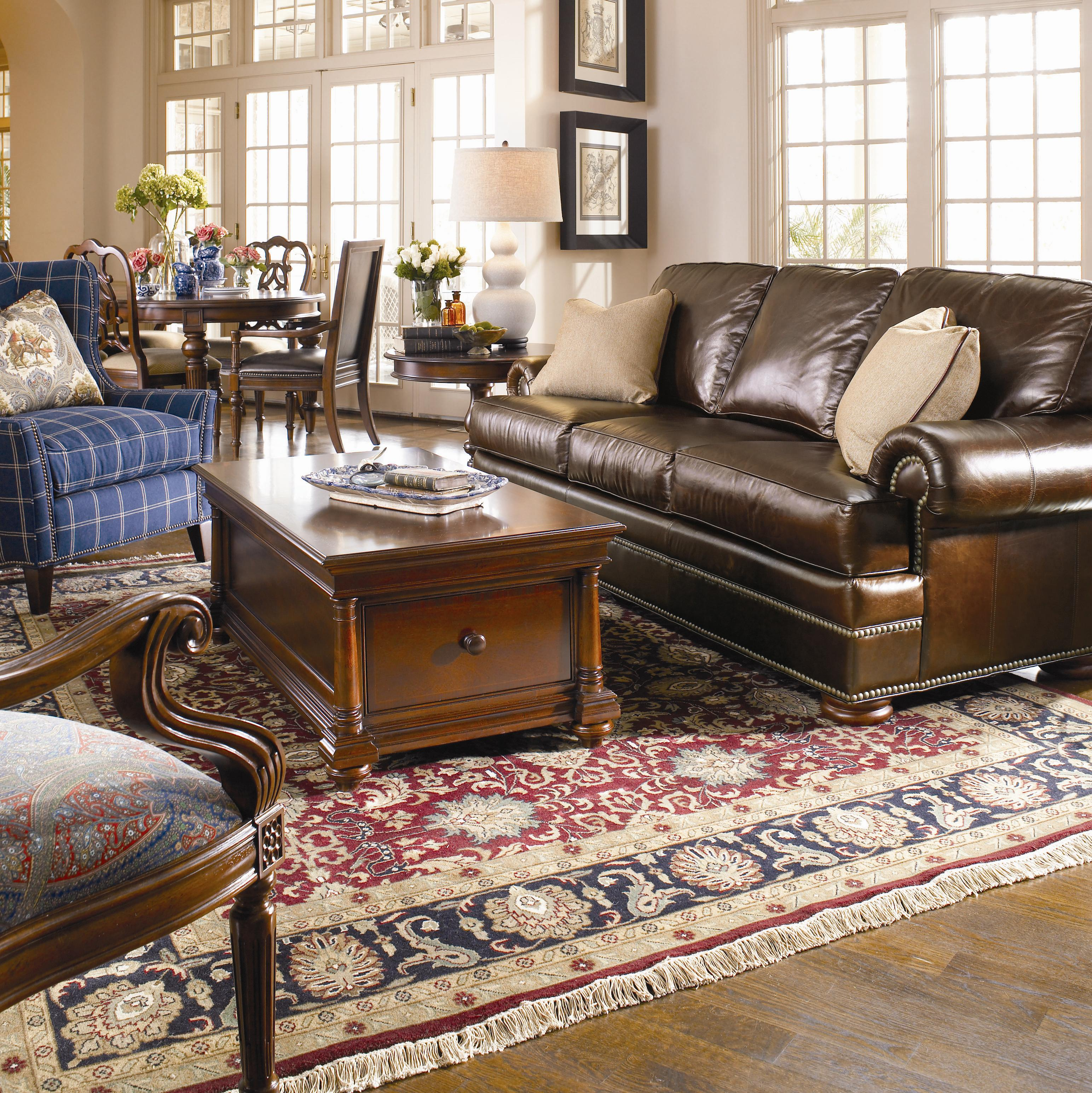 Thomasville Living Room Furniture Thomasvillear Leather Choices Ashby Select Leather Sofa With