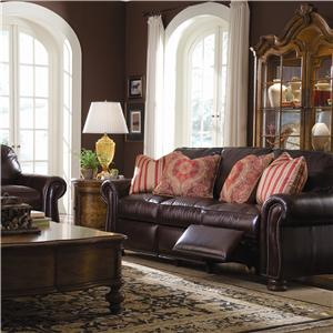 Thomasville® Leather Choices - Benjamin Leather Select Chair with Rolled Arms