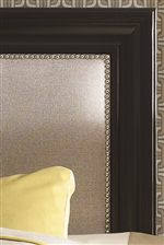 Upholstered Panel with Nailhead Trimming