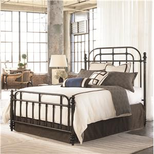 Thomasville® Reinventions King Pullman Metal Headboard and Foodboard Bed