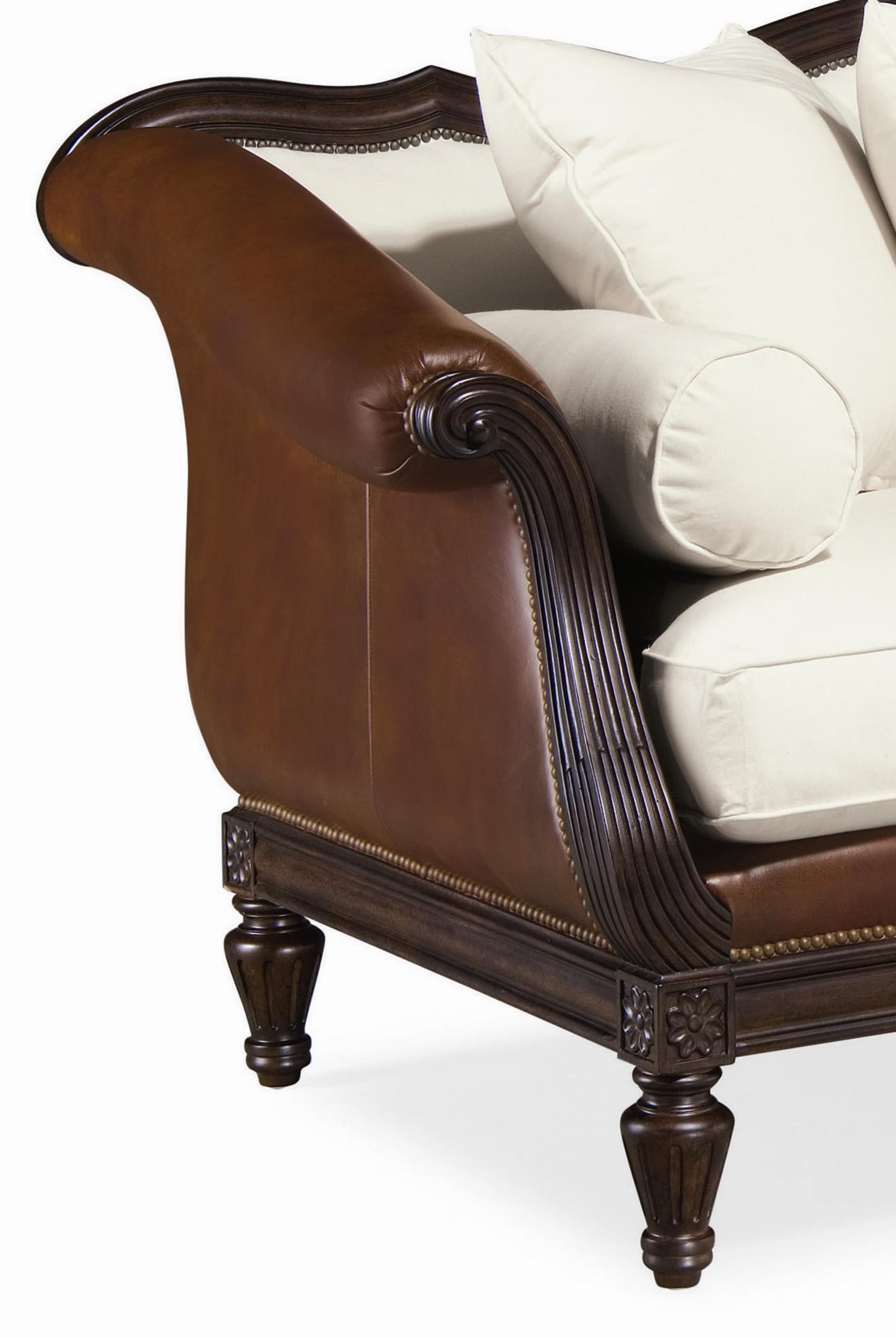 Ordinaire Thomasville® Sorrento Classic Single Seat Sofa With Shaped Back And Wood  Base   BigFurnitureWebsite   Sofa