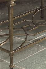Cast Metal Scroll Work Shelf