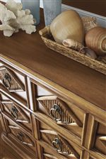Reeded Bamboo Drawer Fronts Provide a Visually Pleasing Presentation