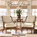 Tommy Bahama Home Beach House Two-Drawer Ponte Vedra Rectangular Cocktail Table with Bamboo & Rattan Accents