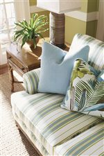 Island-Like Colors and Patterns Perfect the Comforting Appeal of Upholstered Pieces