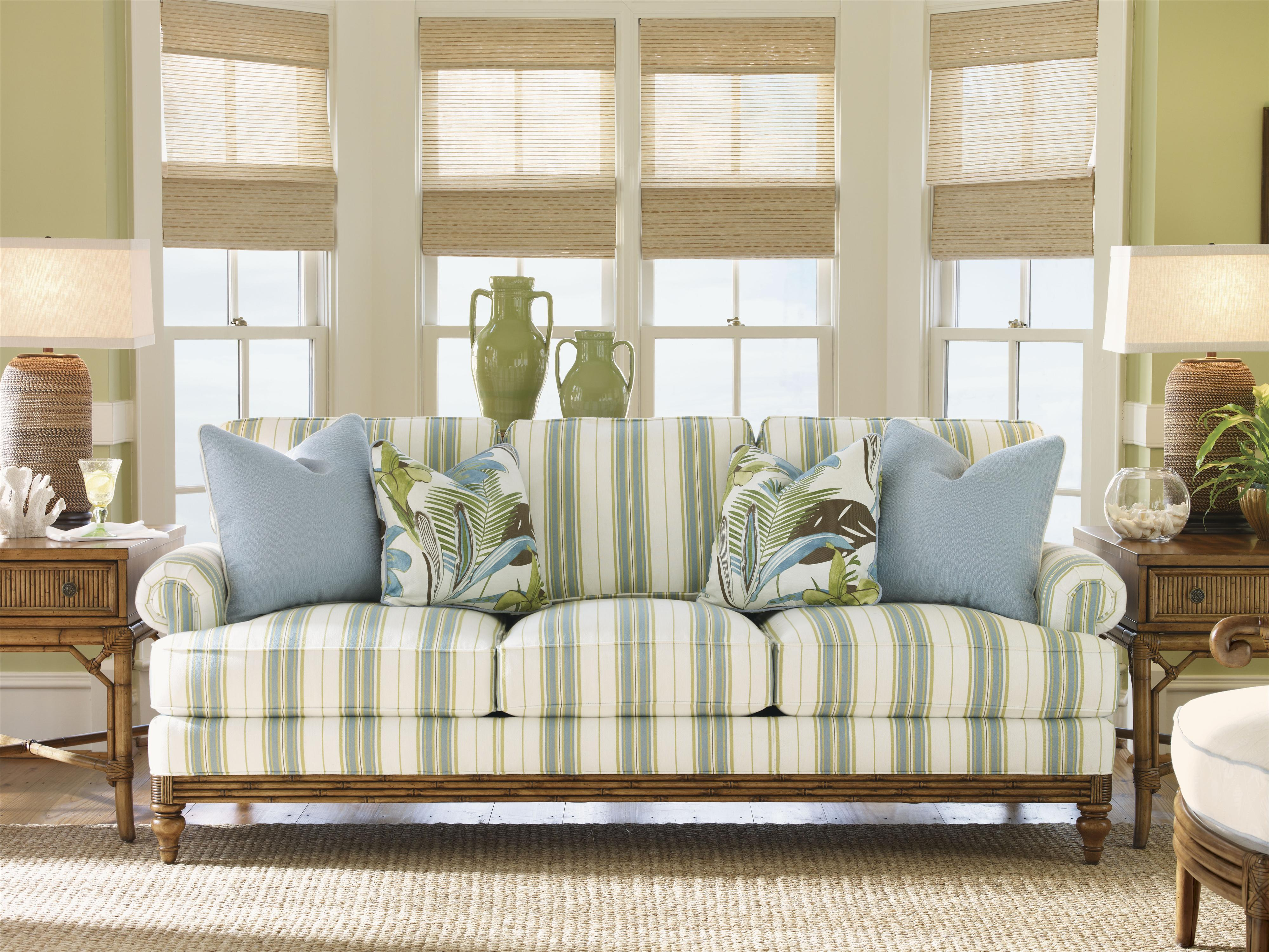 Tommy Bahama Home Beach House Golden Isle Stationary Sofa With