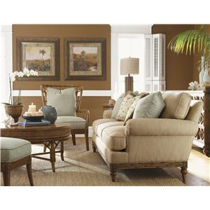 Tommy Bahama Home Beach House Golden Isle Stationary Sofa With ...