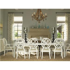 Tommy Bahama Home Ivory Key 11 Piece Rectangular Castel Harbour Dining Table with Mill Creek SideChais  sc 1 st  Wayside Furniture & Tommy Bahama Home Ivory Key 11 Piece Rectangular Castel Harbour ...