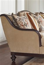 Elegant Designs with Rich Details, Like Nailhead Trim and Carved Wood Borders