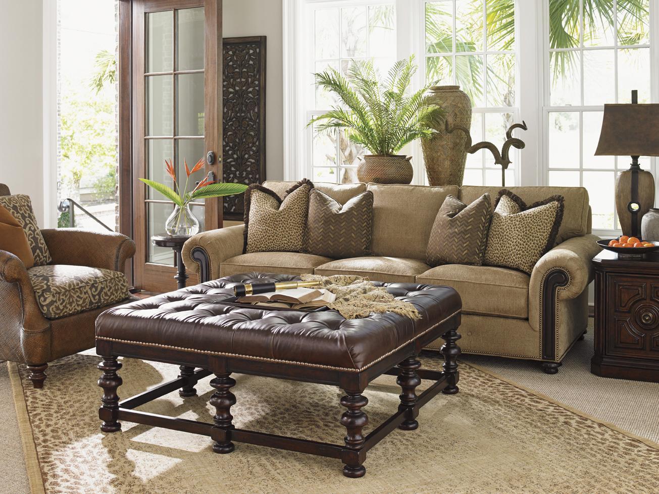 Tommy Bahama Home Kilimanjaro Stationary Living Room Group Belfort Furniture Stationary Living Room Groups