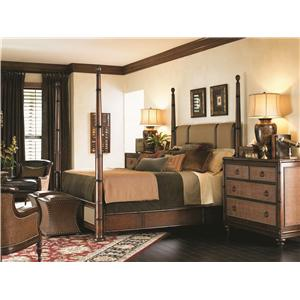 Tommy Bahama Home Landara Queen Poster Bed Bedroom Group