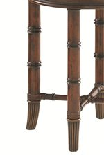 Flared Bamboo Legs with Brass Ferrules
