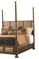 Monarch Bay Poster Bed Features High or Low Poster Option to Best Fit Your Taste and Room Size