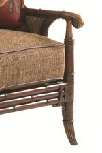 Rattan, Leather Strapping, and Delicately Moulded Metal Accents Create an Exotic, Luxurious Allure