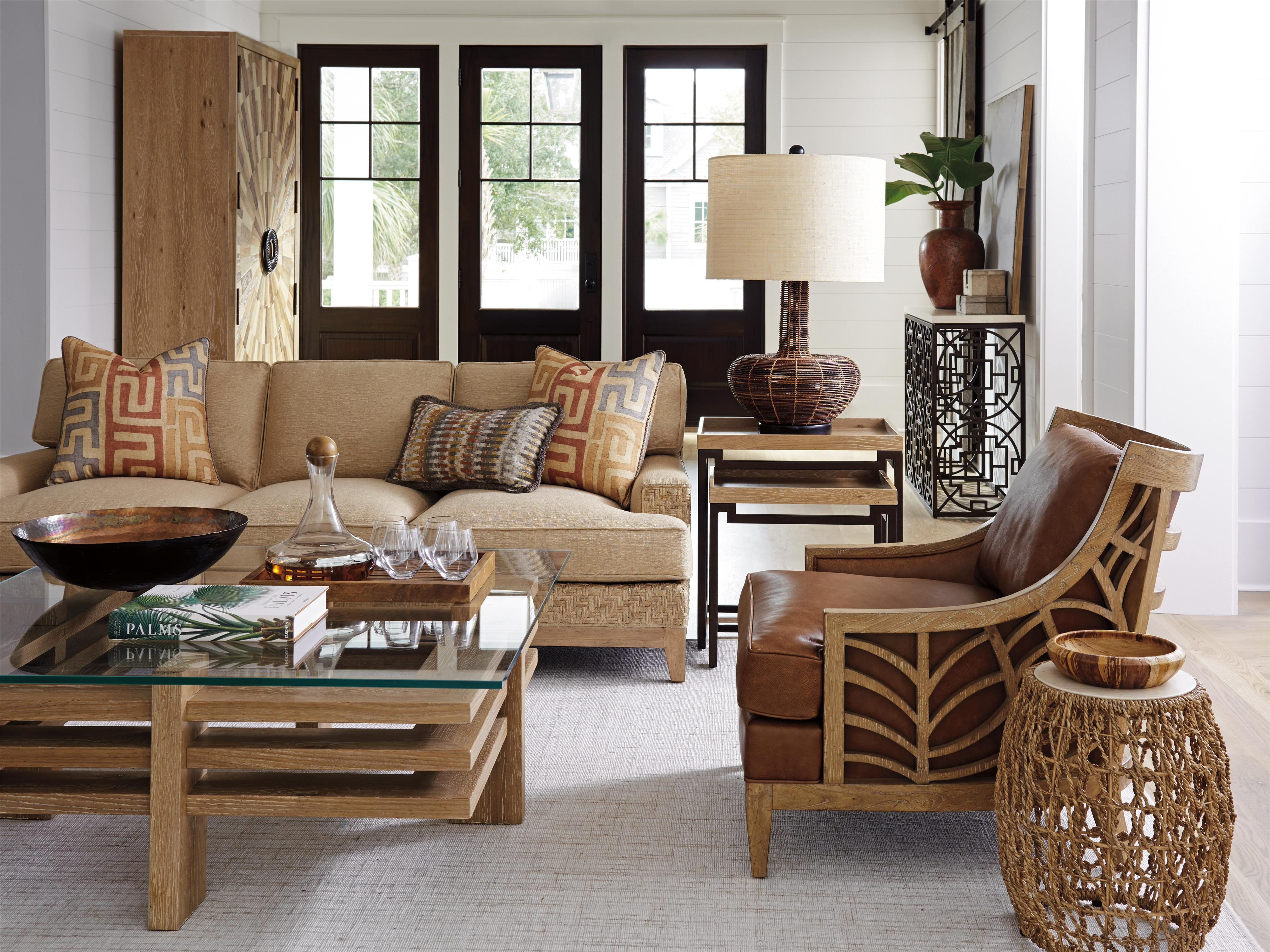 Round Table Los Altos.Los Altos Leather By Tommy Bahama Home Hudson S Furniture