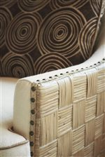 A Parquet Pattern of Woven Rattan Offers a Natural Contrast to a Rich Palette of Colors and Textures