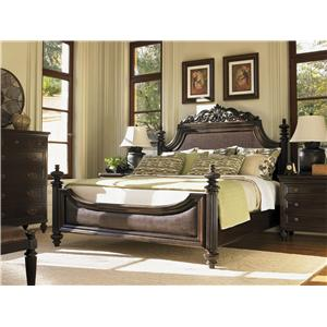 Tommy Bahama Home Royal Kahala California King-Size Diamond Head Bed with Adjustable Posts & Canopy