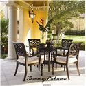 Tommy Bahama Home Royal Kahala Edgewater Chair & Ottoman Combination with Decorative Nailhead Trim