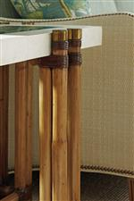 Select Pieces Up the Sophistication with Antique Brass Caps and Ferrules on Bamboo Stalks