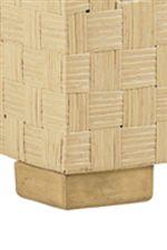 Sturdy Wood Block Leg