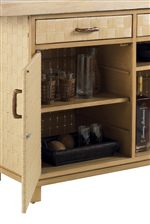 Outdoor Storage Including Lockable Bar Cabinet