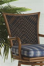 Chair Backs Feature Complex Woven Design that Brings Out the Umber Brown Coloration
