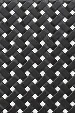 Cast Metal Woven Detail Seen on Table Tops Throughout Collection