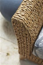 Woven All-Weather Wicker is Resistant to UV Rays, Fading, Staining, Mildew, Stretching and Cracking.