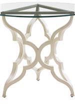 Quatrefoil Pattern Appears Throughout Collection, Even in Elegantly Shaped Table Bases