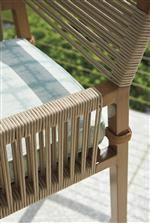 All-weather lanyard cording brings a fresh, nature-inspired twist to your modern outdoor furniture