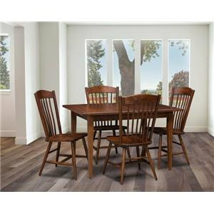 Trailway Wood Freeport Customizable Solid Wood Dining Table with 2 Leaves