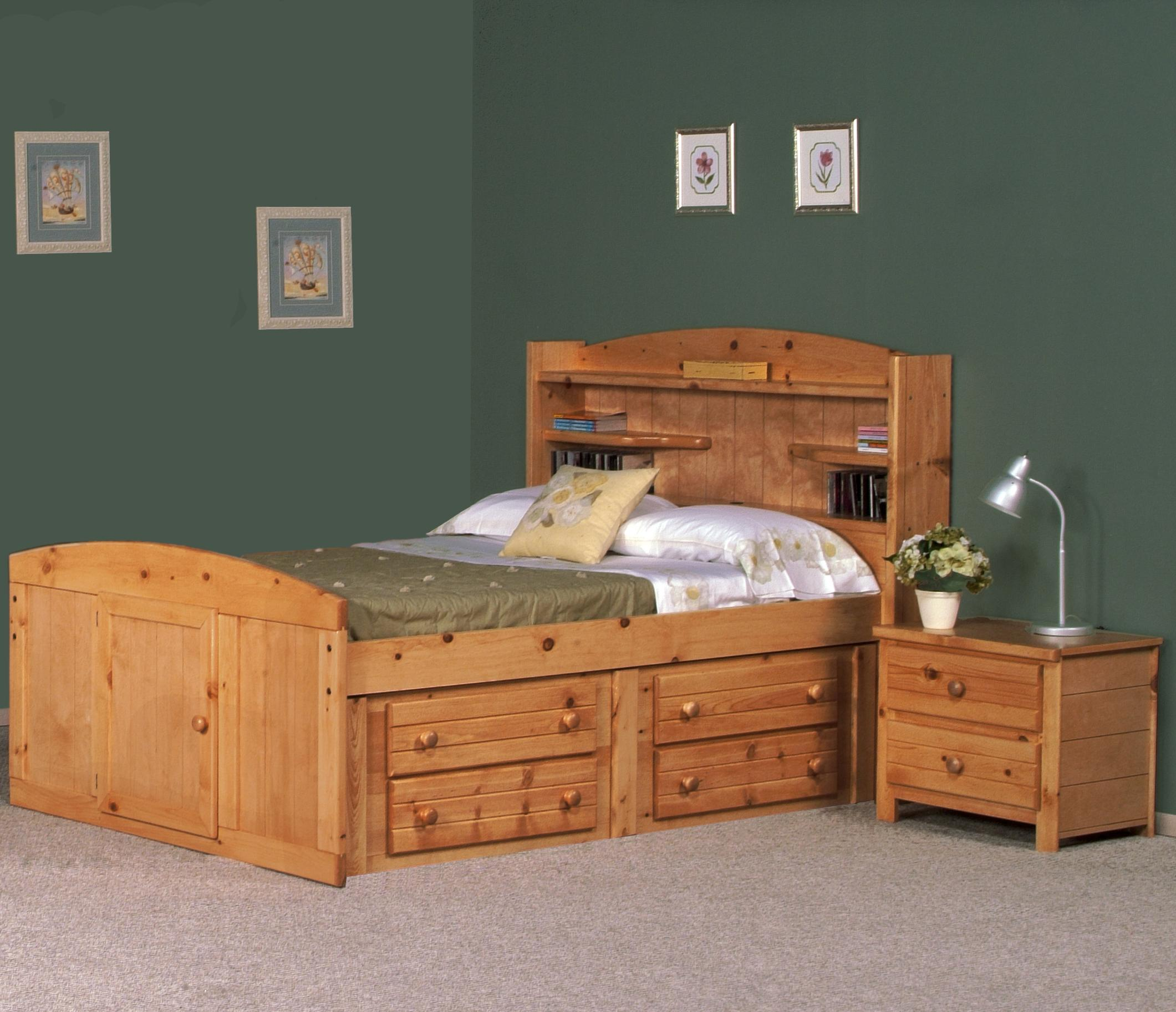 trendwood bayview full bed wayside furniture bed - Captain Bed