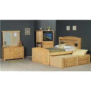 Trendwood Bayview Twin Palomino Bed with Trundle