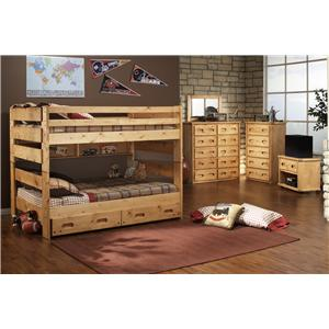 Trendwood Bunkhouse Twin Palomino Captain's Bed