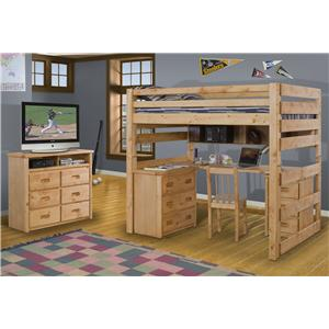 Trendwood Bunkhouse Bunkhouse 3 Drawer Stand