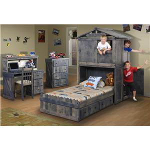 Twin Over Full L Shaped Bunk Bed With Stairway Chest B