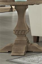 Traditional shapes like acanthus leaves and egg-and-dart molding creates an antique, heirloom feel