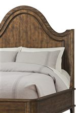 Large Scale Curve on Headboard Makes Statement in Bedroom