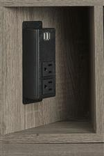 Built In Outlets on Select Pieces for Modern Function