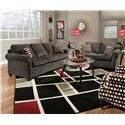 Simmons Upholstery 1630 Stationary Living Room Group - Item Number: 1630 Living Room Group 2