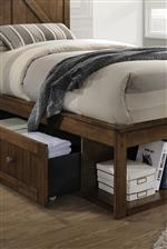 Footboard Storage Drawers & Cubbies
