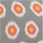 Catherine Grey-Blue and Orange Ikat Pattern