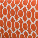 Domino Orange and White Geometric Pattern