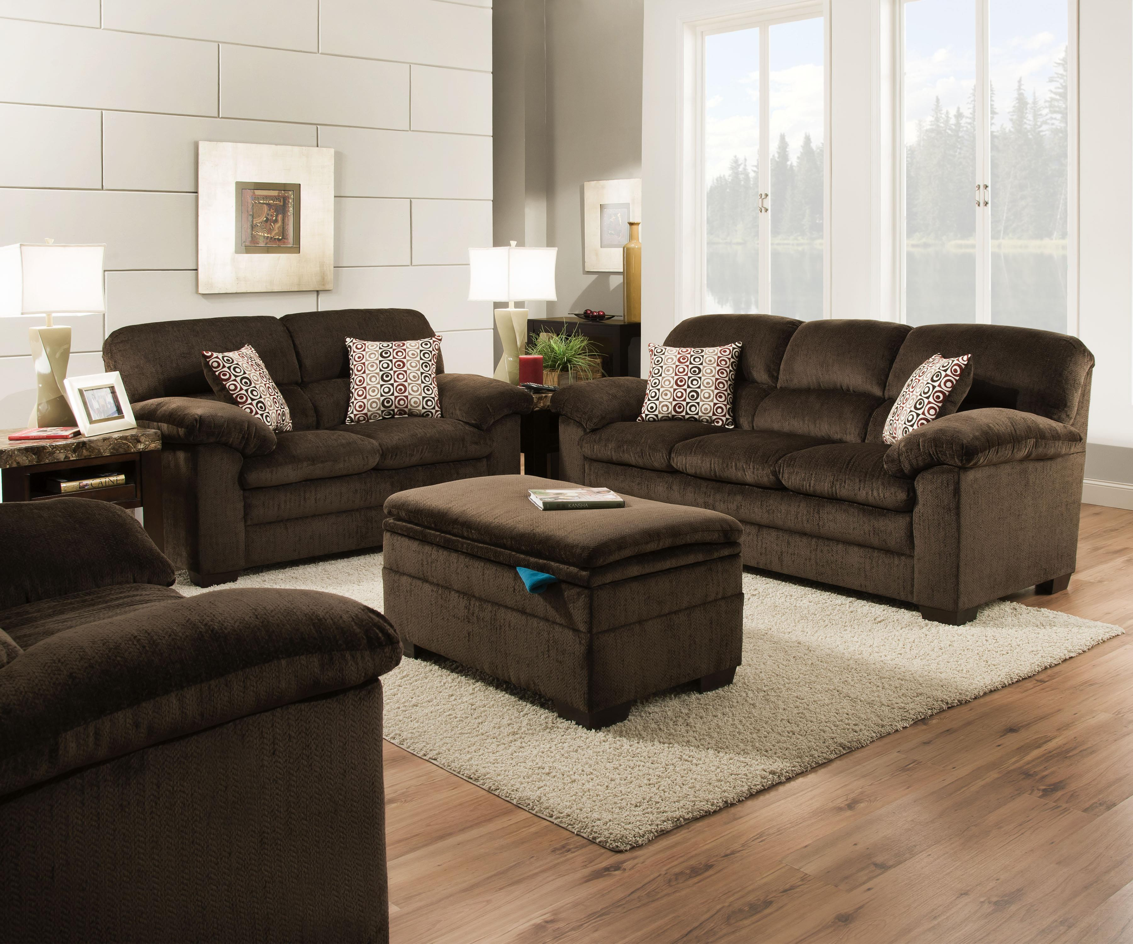 United Furniture Industries 3684 Stationary Living Room