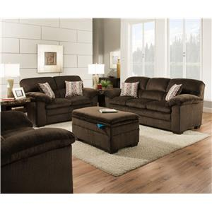 United Furniture Industries 3684 Stationary Living Room Group