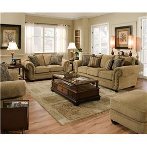simmons living room furniture. Simmons Upholstery 4277 Stationary Living Room Group Traditional Sofa with Rolled Arms and