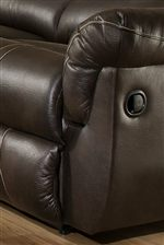 Pillow Topped Arm Rests and Fully Padded Chaises add Casual Comfort with a Smooth Upholstered Style