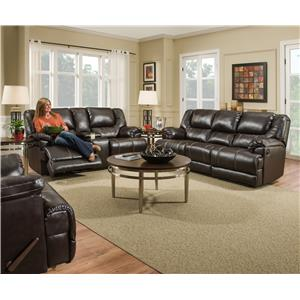 United Furniture Industries 50451 Casual Motion Console Loveseat