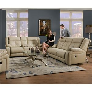United Furniture Industries 50590 Reclining Living Room Group